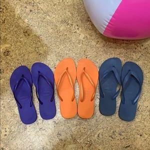 Trio of Havaianas Flip Flops